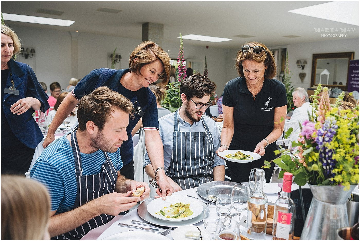 Herefordshire event photography Billy and Jack cookery